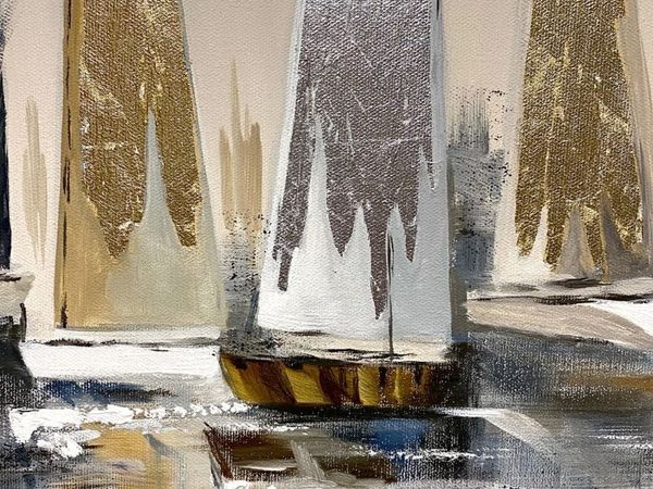 Мерцающая имитиция благородных металлов на наших картинах   Ярмарка Мастеров - ручная работа, handmade