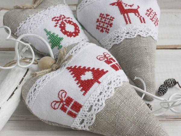 Новинка! Сердечки-тильда - новогодние подарки | Ярмарка Мастеров - ручная работа, handmade