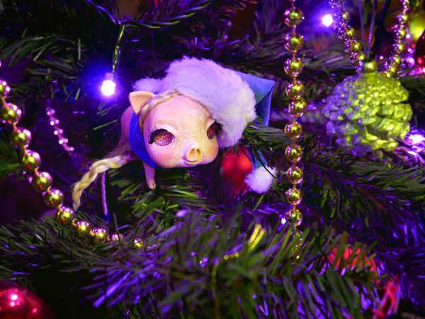 Мастерим подвижную игрушку! Свинья — символ нового 2019 года   Ярмарка Мастеров - ручная работа, handmade