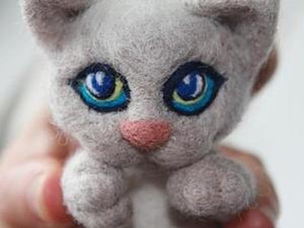 Выразительные глазки котёнка | Ярмарка Мастеров - ручная работа, handmade