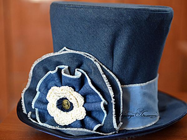 Шляпа-цилиндр как аксессуар для сбора денег и небольших подарков на джинсовой свадьбе   Ярмарка Мастеров - ручная работа, handmade