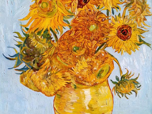 Подсолнухи, Ван Гог, авторская копия, 2013 г | Ярмарка Мастеров - ручная работа, handmade
