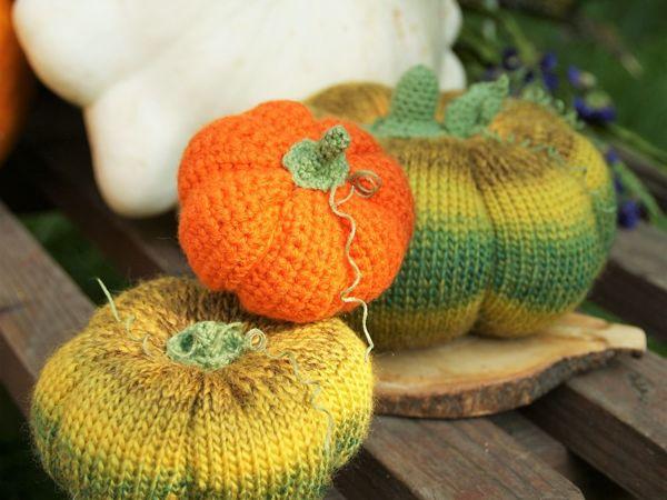 Вяжем тыквы любого размера, из любой пряжи   Ярмарка Мастеров - ручная работа, handmade