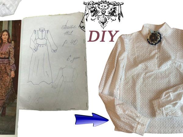 Шьём блузку из батиста. Часть 2. Пошив | Ярмарка Мастеров - ручная работа, handmade