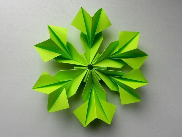 Мастерим простой цветок из бумаги | Ярмарка Мастеров - ручная работа, handmade