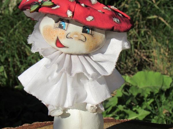 Создаем гриб-мухомор в технике «грунтованный текстиль» | Ярмарка Мастеров - ручная работа, handmade