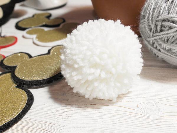 Помпон из пряжи своими руками | Ярмарка Мастеров - ручная работа, handmade