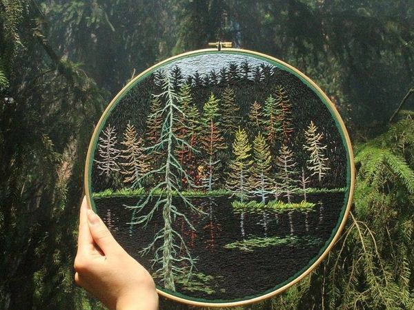 Вышивка гладью пейзажей от Jura Gric | Ярмарка Мастеров - ручная работа, handmade