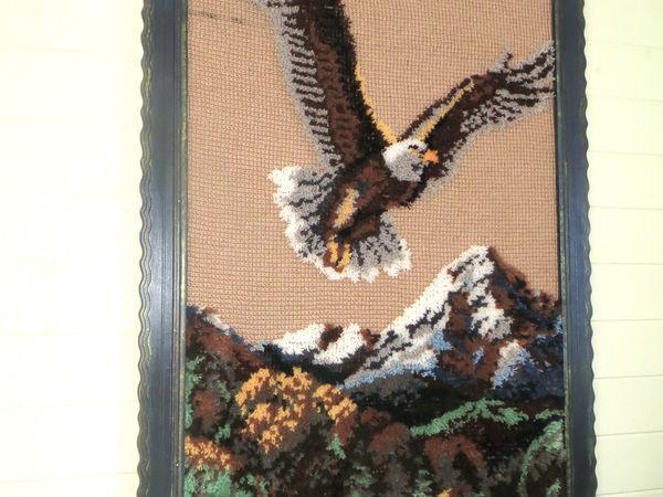Создаем картину с 3D-эффектом поверх тунисского вязания. Ковровая техника   Ярмарка Мастеров - ручная работа, handmade