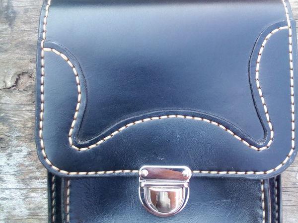 Шьем мужскую сумку с плечевым ремнем из натуральной кожи | Ярмарка Мастеров - ручная работа, handmade