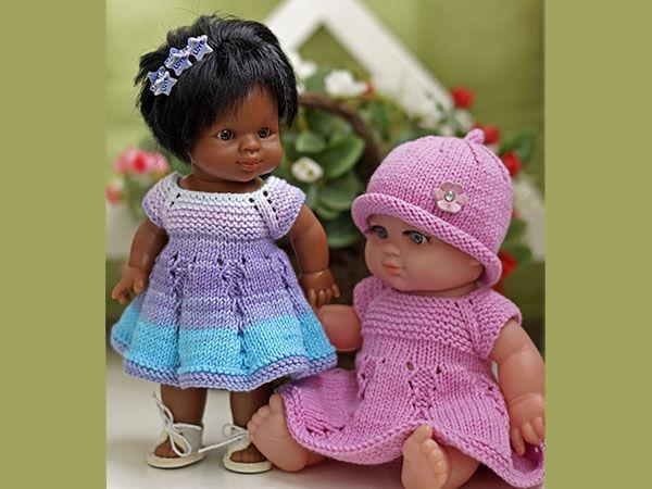 Вяжем платье «Первоцветик» для пупсов — одеваем всех от мала до велика! | Ярмарка Мастеров - ручная работа, handmade