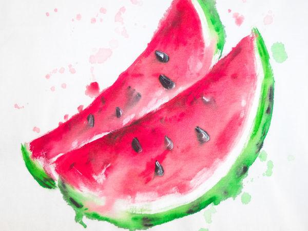 Картинки арбуза нарисованный