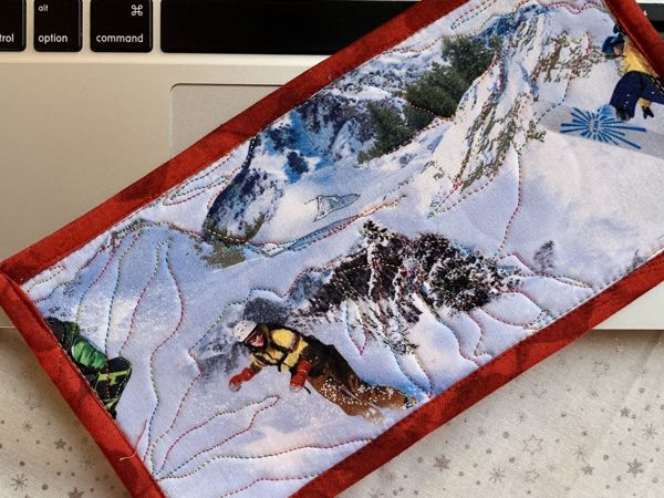 Как сделать новогодний подарок? Текстильная открытка своими руками. Часть 1   Ярмарка Мастеров - ручная работа, handmade