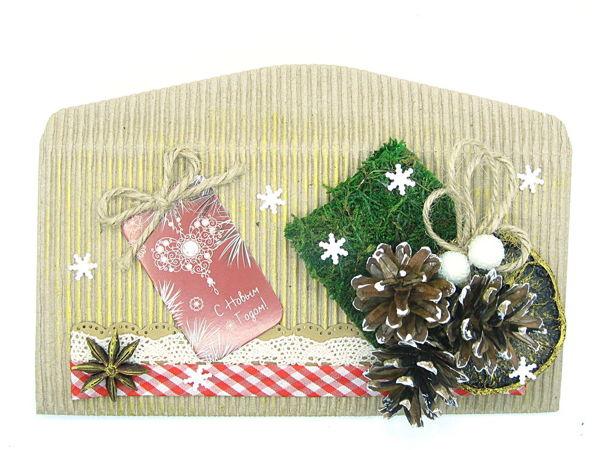 Мастерим новогодний конверт в стиле крафт | Ярмарка Мастеров - ручная работа, handmade