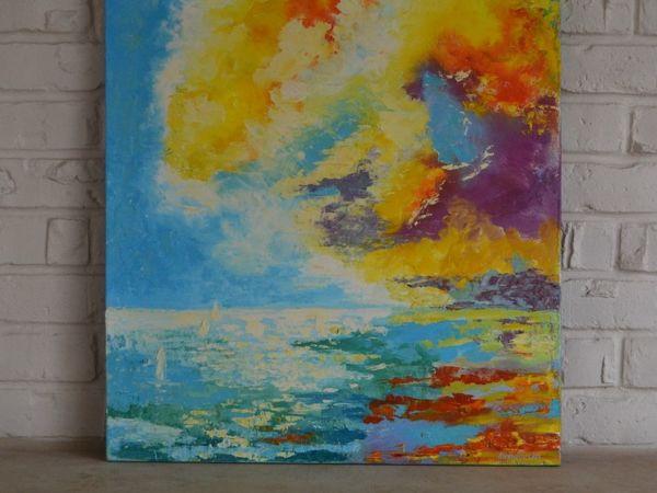 Картина  «Морской пейзаж. Небо» | Ярмарка Мастеров - ручная работа, handmade
