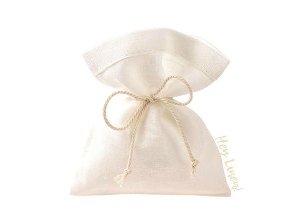 Белые льняные мешочки | Ярмарка Мастеров - ручная работа, handmade