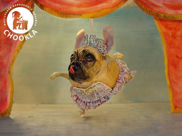 A Ballet Doggy: Creating a Funny Christmas Toy of Papier-Mache   Livemaster - handmade