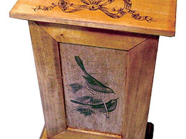 Старинная ключница с гравюрой | Ярмарка Мастеров - ручная работа, handmade