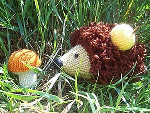 Вяжем грибочек для ёжика   Ярмарка Мастеров - ручная работа, handmade
