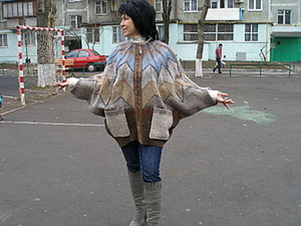 МК по мокрому валянию куртки - парки на змейке | Ярмарка Мастеров - ручная работа, handmade
