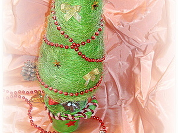 Ёлка Новогодняя из сизаля   Ярмарка Мастеров - ручная работа, handmade