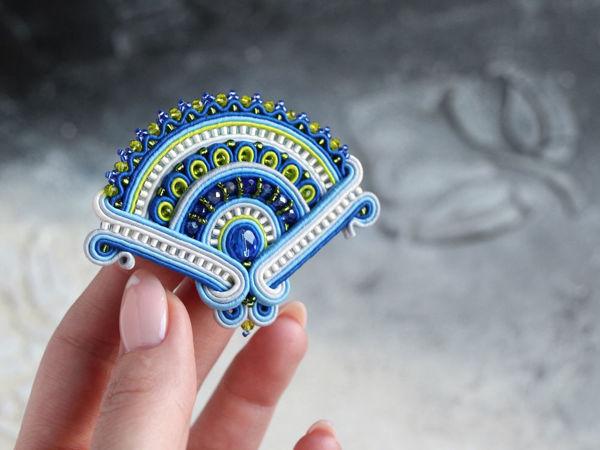 Шьем сутажную брошь Веер   Ярмарка Мастеров - ручная работа, handmade
