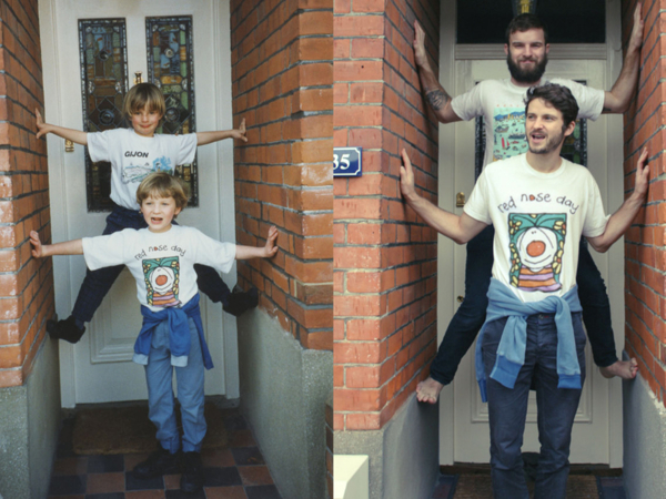 They Made Mom Cry: The Luxton Brothers Recreated Their Childhood Photos And Made Unusual Gift | Livemaster - handmade