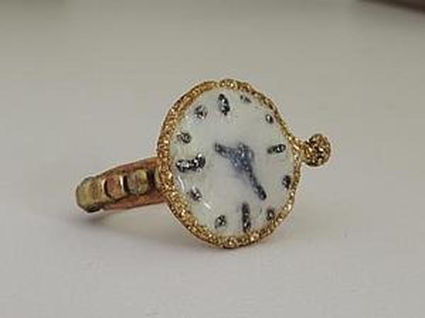 Делаем кольцо «Часики» в стиле стимпанк   Ярмарка Мастеров - ручная работа, handmade