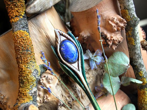 «Око леса»  с лазуритом | Ярмарка Мастеров - ручная работа, handmade