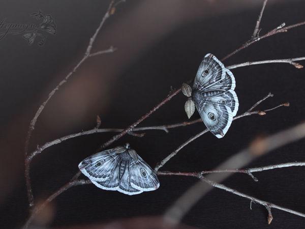 Мотыльки-броши | Ярмарка Мастеров - ручная работа, handmade