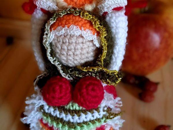 Мастерим народную куколку Масленицу крючком из остатков пряжи | Ярмарка Мастеров - ручная работа, handmade