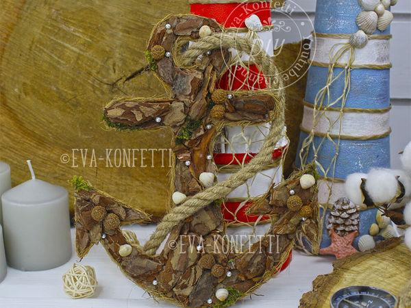 Делаем декоративный якорь   Ярмарка Мастеров - ручная работа, handmade