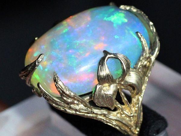 Кольцо  «Iris»  с Опалом | Ярмарка Мастеров - ручная работа, handmade