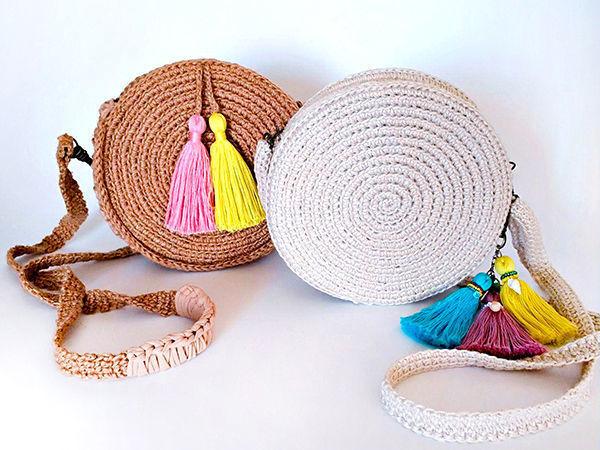 1b038b2b043f Делаем модную круглую сумочку своими руками   Ярмарка Мастеров - ручная  работа, handmade
