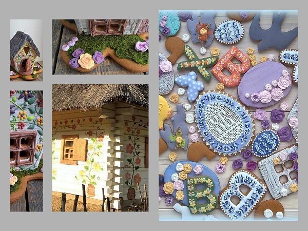 Пасхальный пряничный домик и роспись пряников   Ярмарка Мастеров - ручная работа, handmade