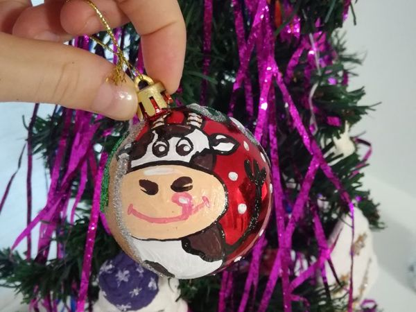 Расписываем с детьми новогодний шарик | Ярмарка Мастеров - ручная работа, handmade