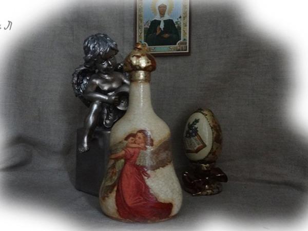 Мастер-класс: декор бутылки для святой воды в технике декупаж   Ярмарка Мастеров - ручная работа, handmade