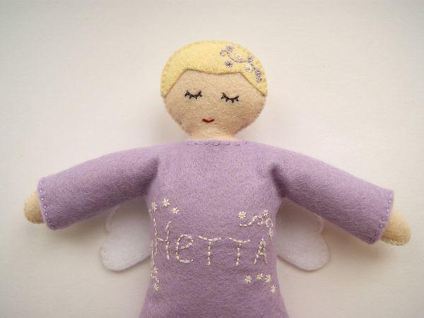 Мастер-класс: шьём куклу-сплюшку ангела из фетра | Ярмарка Мастеров - ручная работа, handmade