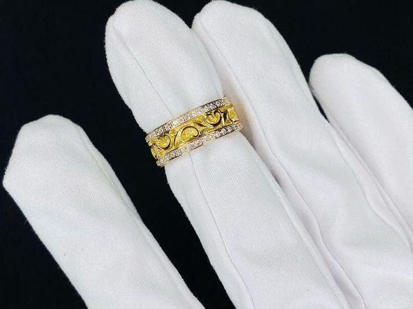 Золотое кольцо в лимонном золоте В НАЛИЧИИ | Ярмарка Мастеров - ручная работа, handmade