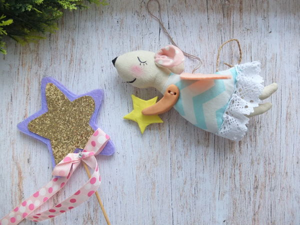 Sewing 2020 New Year Symbol: Flying Angel Mouse with your own Hands | Livemaster - handmade