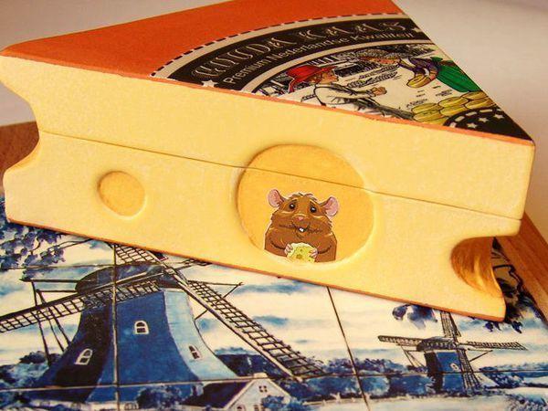 Декорируем шкатулку «Кусочек сыра» | Ярмарка Мастеров - ручная работа, handmade