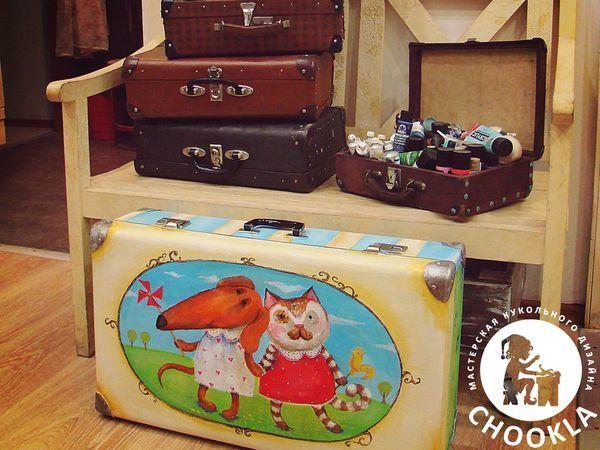 Декорируем старый чемодан   Ярмарка Мастеров - ручная работа, handmade