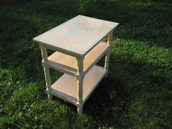 Осваиваем простые техники окрашивания и декорирования лакированного столика | Ярмарка Мастеров - ручная работа, handmade