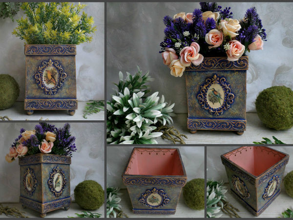 Короб для цветов с нуля | Ярмарка Мастеров - ручная работа, handmade