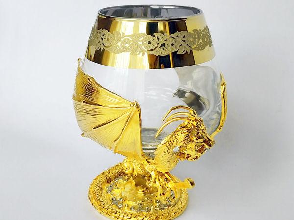 Бокал для коньяка  «Дракон» . Златоуст z10818   Ярмарка Мастеров - ручная работа, handmade