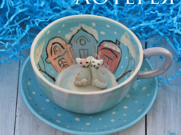 Лотерея Состоялась! Чайная пара за 180 рублей! | Ярмарка Мастеров - ручная работа, handmade
