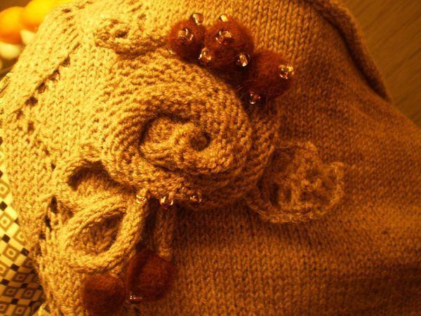 Вяжем спицами розу для декора   Ярмарка Мастеров - ручная работа, handmade