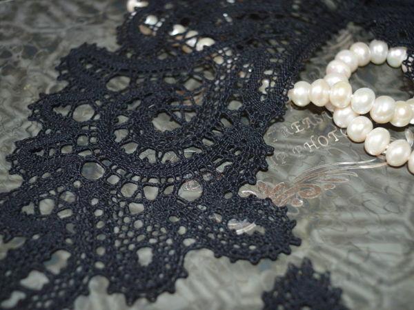 Черный воротник — элегантность и роскошь | Ярмарка Мастеров - ручная работа, handmade