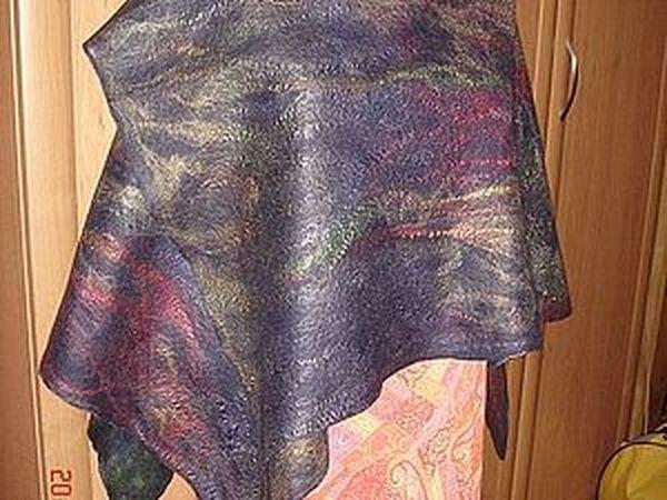 Накидка - пончо  из префелта двухстороняя | Ярмарка Мастеров - ручная работа, handmade