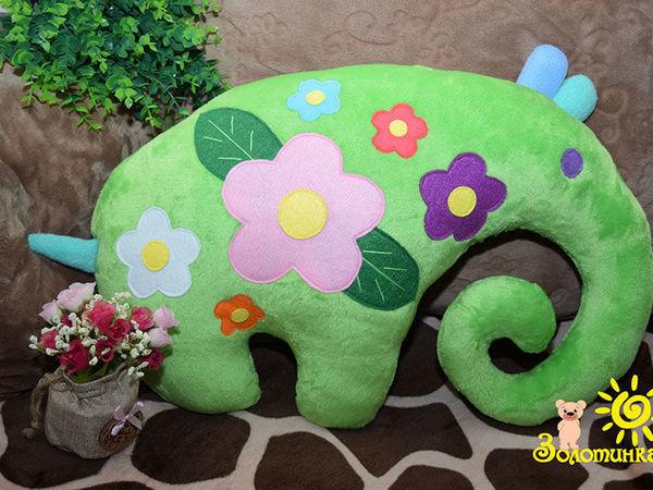 Шьём весеннюю подушку-игрушку «Цветочный Слоник»   Ярмарка Мастеров - ручная работа, handmade
